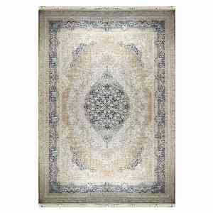 فرش ماشینی شاهانه شفقی طرح کتان کد 4019 زمینه سفید ، خرید آنلاین ، فروشگاه اینترنتی آف تپ