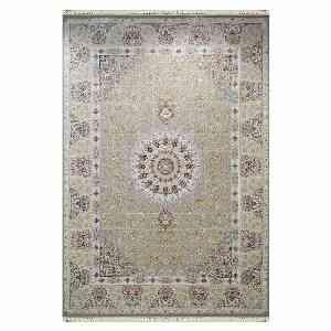 فرش ماشینی شاهانه شفقی طرح پیچک زمینه نقره ای ، خرید آنلاین ، فروشگاه اینترنتی آف تپ