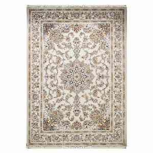 فرش ماشینی مهر و ماه طرح جواهر زمینه کرم ، خرید آنلاین ، فروشگاه اینترنتی آف تپ