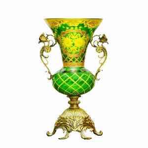 گلدان طلاکوب پایه بلند برنجی کد 1004 ، فروشگاه اینترنتی آف تپ