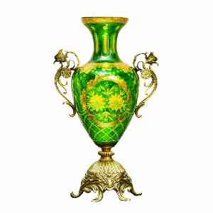 گلدان طلاکوب پایه بلند برنجی کد 1006