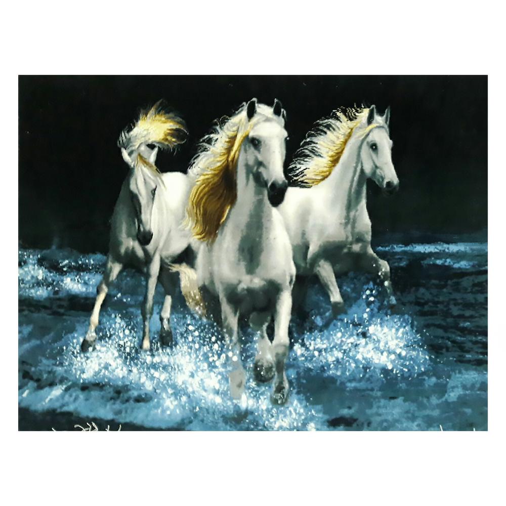 تابلو فرش دستبافت طرح گله اسب، فروشگاه اینترنتی آف تپ