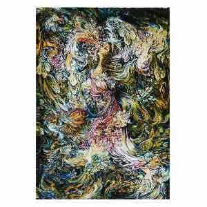 تابلو فرش دستبافت طرح مینیاتوری بوی بهار، فروشگاه اینترنتی آف تپ