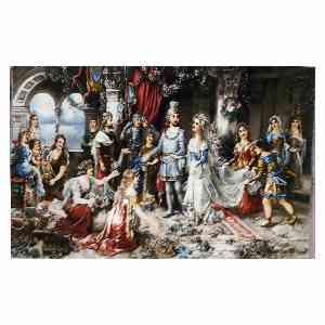 تابلو فرش دستبافت طرح تاج گذاری ناپلئون، فروشگاه اینترنتی آف تپ