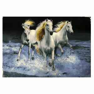تابلو فرش دستبافت طرح گله اسب کد 005، فروشگاه اینترنتی آف تپ