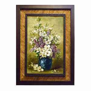 تابلو فرش دست بافت طرح گل یاسمن کد 1625، فروشگاه اینترنتی آف تپ