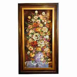 تابلو فرش دست بافت طرح گل کد 2101، فروشگاه اینترنتی آف تپ