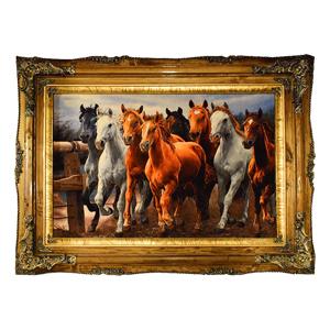 تابلو فرش دست بافت طرح گله اسب، فروشگاه اینترنتی آف تپ