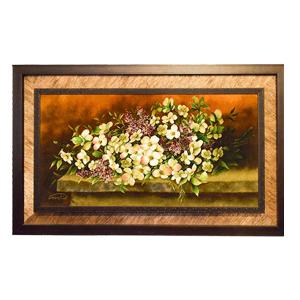 تابلو فرش دست بافت گل یاسمن کد 1626، فروشگاه اینترنتی آف تپ