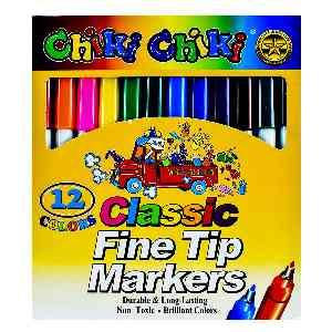 ماژیک 12 رنگ چیکی چیکی  chiki chiki ، ارسال رایگان، تخفیف، ارزان، باکیفیت، خریدی آنلاین ، فروشگاه اینترنتی آف تپ OFFTAPP