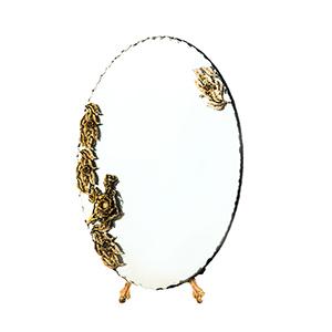آینه بیضی سیاه قلم کد 032
