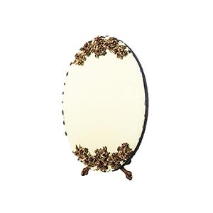 آینه بیضی سیاه قلم کد 034
