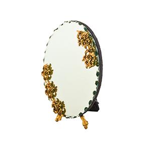 آینه بیضی سیاه قلم کد 036
