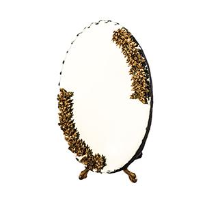 آینه بیضی سیاه قلم کد 033