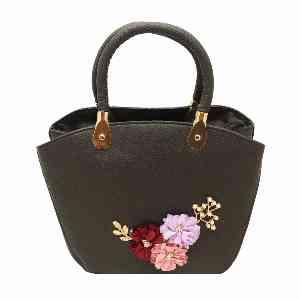 کیف دستی زنانه طرح گلدار کد 2156